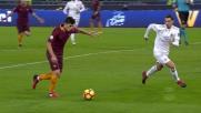 Perotti prova la soluzione, palla sull'esterno della rete contro il Milan