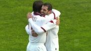 Perrotta sfrutta il lavoro di Taddei e realizza il 2-0 sul Cagliari