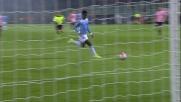 Pezzella evita il goal a Keita respingendo in qualche modo sulla linea a portiere battuto