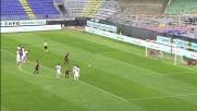 Pinilla dal dischetto segna il goal della bandiera per il Cagliari