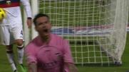 Pinilla, gioia incontenibile dopo il goal vittoria contro il Genoa