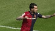 Pinilla inizia il suo show firmando il primo goal per il Cagliari contro il Cesena