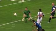 Pinzi segna il goal che apre le marcature nel match tra Inter e Udinese