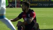 Pisacane col corpo nega un goal già fatto ad Hamsik!