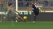 Pisano segna il goal del poker del Cagliari contro la Roma