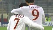 Pizarro dal dischetto porta in vantaggio la Roma a Cagliari
