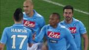 Poker del Napoli contro il Cagliari. Il goal è di Lavezzi