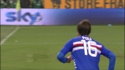 Poli segna il goal dell'1-0 per la Sampdoria nel Derby della lanterna