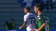 Politano calcia col sinistro contro l'Udinese, palla a lato