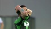 Politano si accentra e calcia col mancino: palla alta e brivido per il Genoa