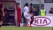 Borja interviene con il piede a martello su Aquilani e l'arbitro lo espelle