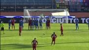 Punizione perfetta di Avelar e goal del 2-0 per il Cagliari contro l'Empoli