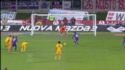 Giusaeppe Rossi segna su rigore il goal del 4-2 al Verona