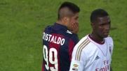 Cristaldo con una ruleta a centrocampo evita i calciatori del Milan