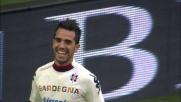 Sau segna il goal dell'1-1 all'Inter: il primo di una doppietta