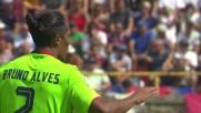 Magia di Bruno Alves su punizione, goal del Cagliari a Bologna
