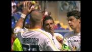 Il doppio scambio del Lecce porta al goal da fuori area di Tiribocchi