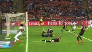Gervinho scatta in contropiede ma Paletta recupera e salva il Milan