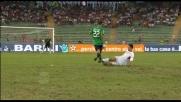 Osvaldo vola in contropiede allo stadio San Nicola