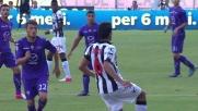 Controllo in palleggio di Faraoni in Fiorentina-Udinese