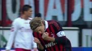 Benussi sbaglia tutto, Ambrosini non perdona e segna il goal del vantaggio per il Milan