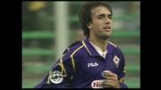 Batistuta segna il goal della cinquina della Fiorentina contro il Lecce