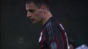Calcio d'angolo per il Milan: Kucka di testa fuori di un nulla