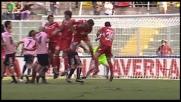 Allegretti colpito in faccia durante Palermo-Bari