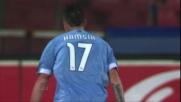 Hamsik realizza il goal vittoria del Napoli contro il Genoa