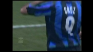 Cruz non sbaglia da pochi passi: è il goal del 2-0 per l'Inter sul Livorno