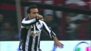 Quagliarella con un gran colpo di testa porta in vantaggio la Juventus a San Siro