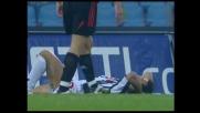 Quagliarella manca la conclusione al volo e il goal contro il Milan