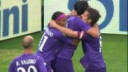 Toni segna il goal della tranquillità contro il Cagliari