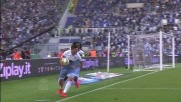Il colpo di testa di Djordjevic finisce in goal e fa esultare metà stadio nel derby