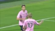 Vazquez sfrutta al meglio l'assist di Chochev e raddoppia per il Palermo