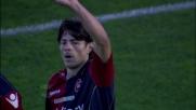 Raddoppio del Cagliari contro il Catania. Il goal è sempre di Nene'