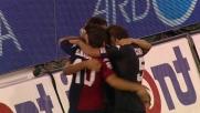 Raddoppio del Cagliari contro il Novara: goal di Larrivey