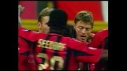 Raddoppio del Milan contro il Parma: goal di Tomasson