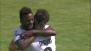 Raddoppio del Parma grazie al goal con il mancino di Varela