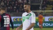 Rafael respinge coi piedi il sinistro pericoloso di Defrel