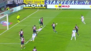 Vecino gela il Cagliari e segna la rete del pareggio su assist di Mario Rui