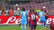 Pandev di sinistro segna il goal del vantaggio del Napoli sul Genoa