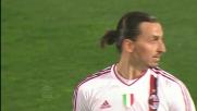 Ibrahimovic, finta di tiro e goal contro il Palermo