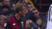 Rigoni beffato dal rimbalzo, calcia fuori contro la Juventus