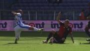Rigoni entra duro contro il Pescara, fallo su Benali