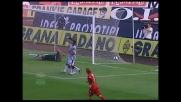 Rigore in movimento di Parola che segna il goal della rimonta del Cagliari