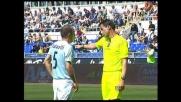Rigore per il Palermo all'Olimpico per il fallo di mano di Mutarelli