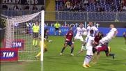Rimpallo vincente di Tonelli che segna al Genoa