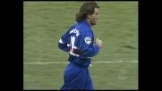 Ripartenza della Sampdoria, goal di Mancini