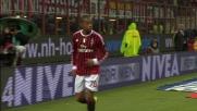 Robinho dribbla in area e segna il goal del 3-0 al Catania